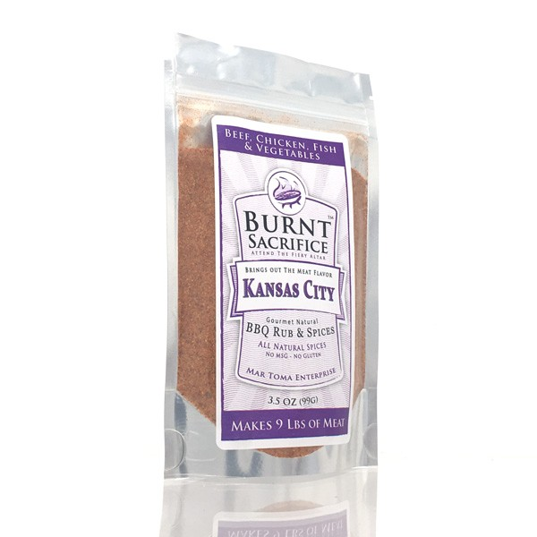 Kansas City BBQ Rub  3 OZ Jumbo Packets