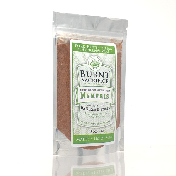 Memphis BBQ Rub  3 OZ Jumbo Packets