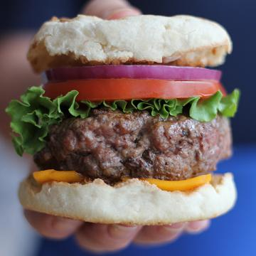 English Muffin Burger