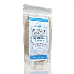Northwest Salmon BBQ Rub  3.5 OZ Jumbo Packets